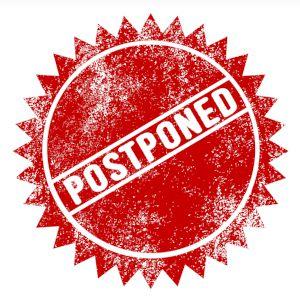 Postponed badge