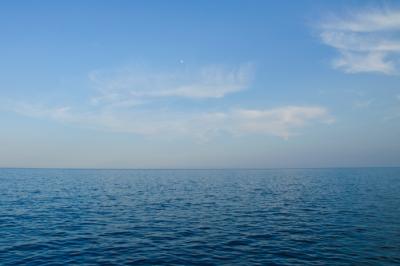 Calm blue ocean