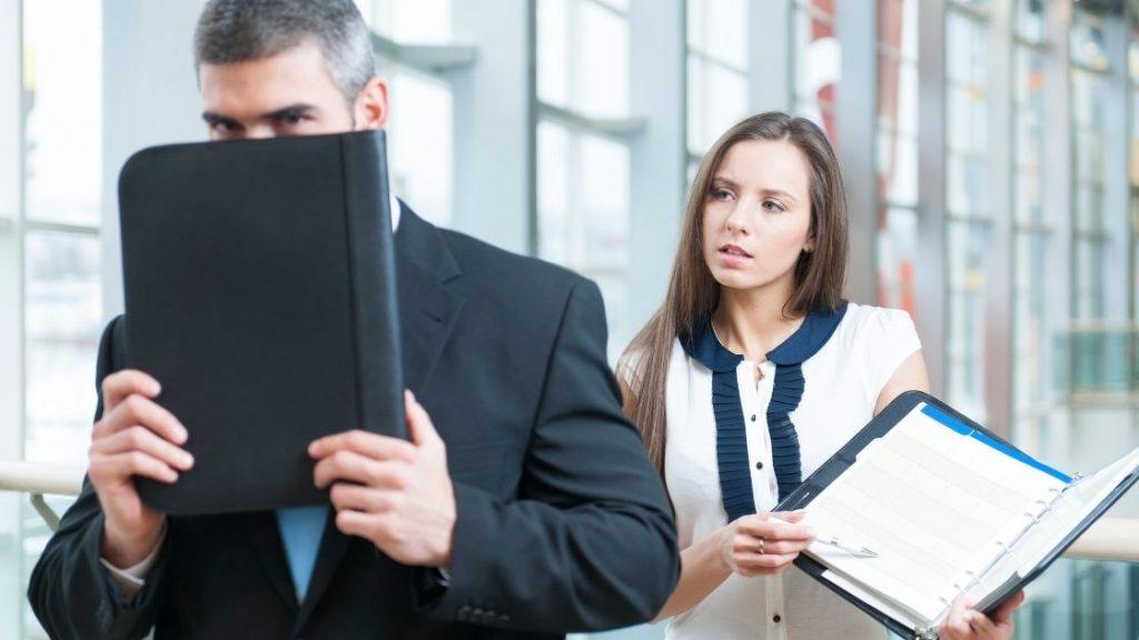 Passive aggressive behaviour at work - avoidance