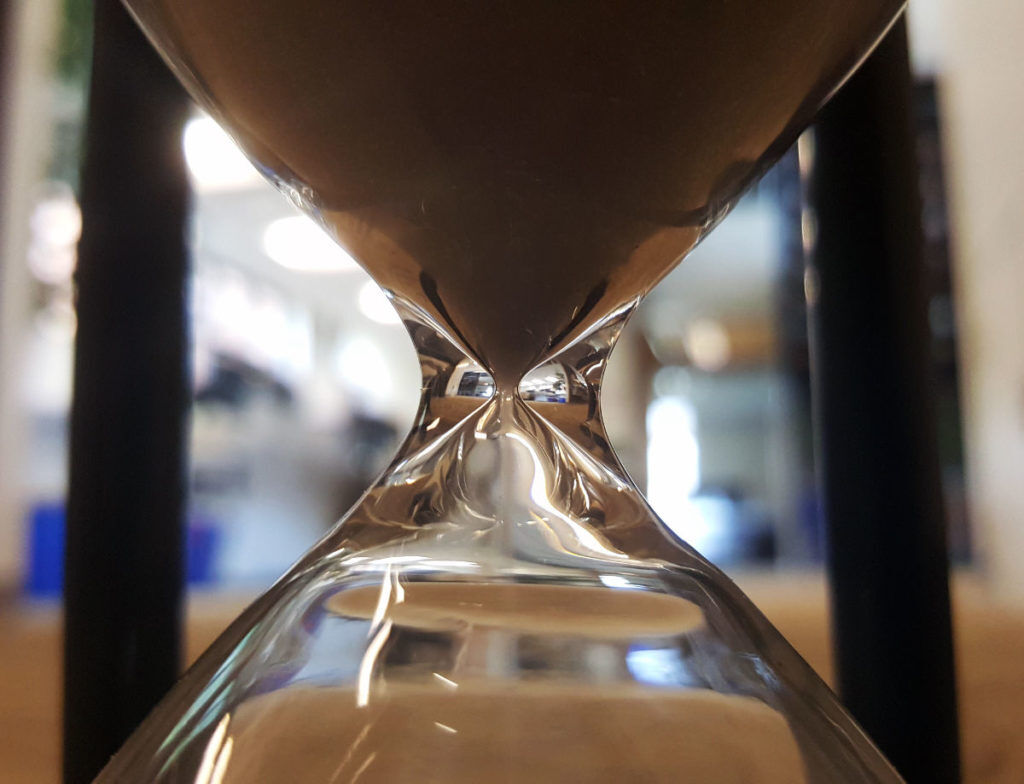 hourglass, missing deadlines