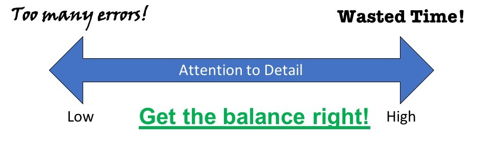 Attention to Detail Matters - Balance