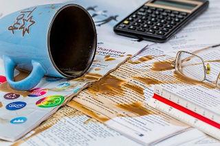 Making an error - spilt coffee