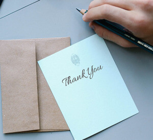 Be more grateful - thank you card