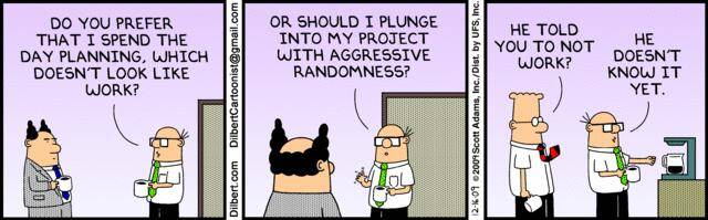 Importance of Planning - Dilbert