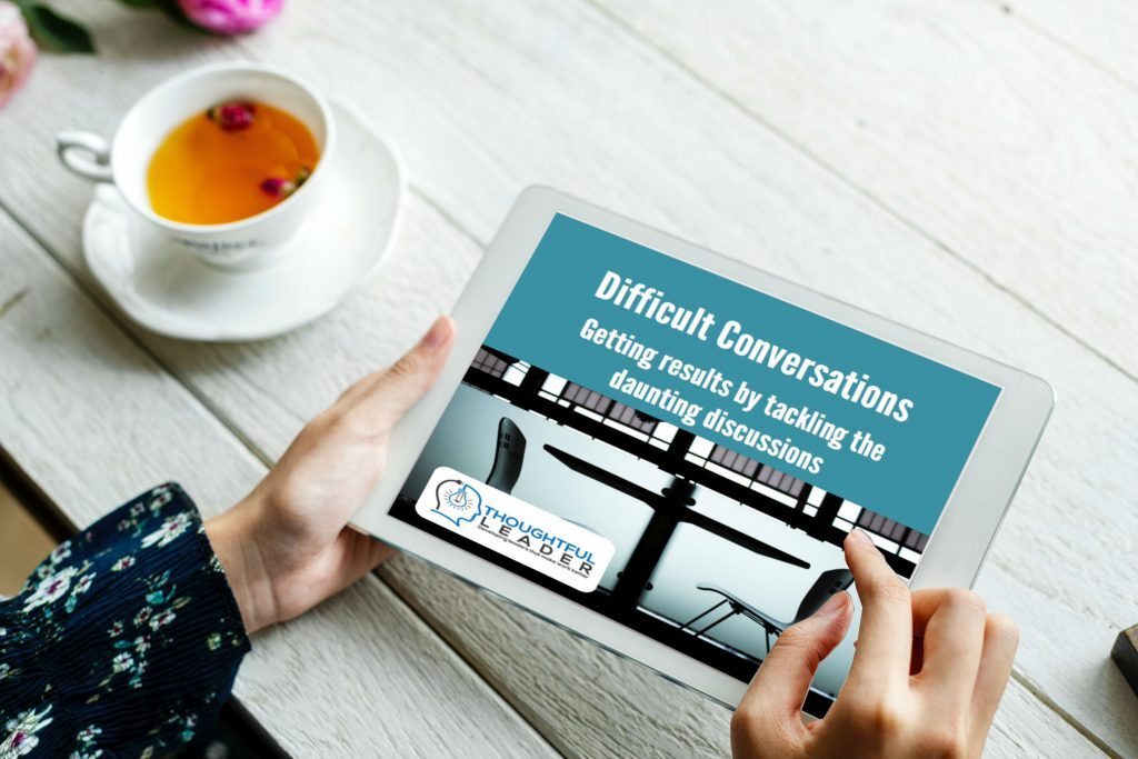 Difficult Conversations Guide on Tablet