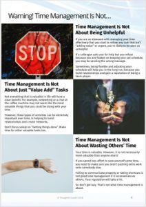 Time Management Toolkit - Instructions Page