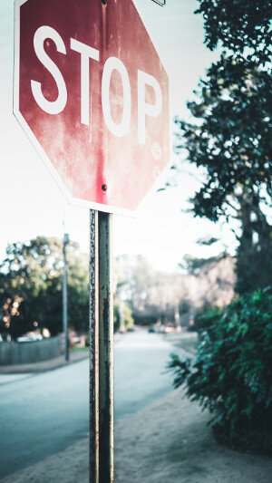 working relationship - stop sign