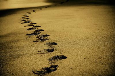 Change journey - footsteps