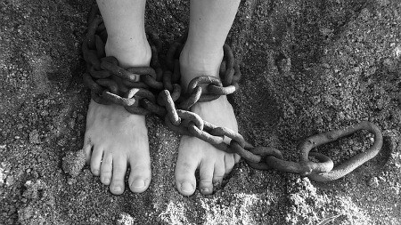 Victim mindset - chained feet