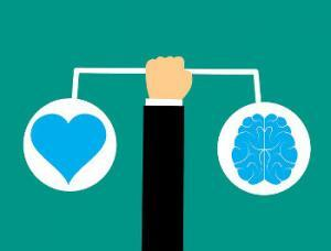 Empathy image - brain vs. heart
