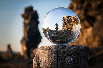 Focus - glass ball