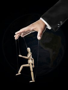 Puppet being controlled