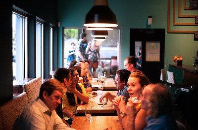 Social event at restaurant