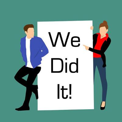 Sense of Accomplishment - we did it!