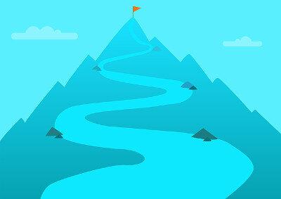 Destination - top of mountain