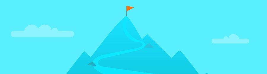 Team target mountain