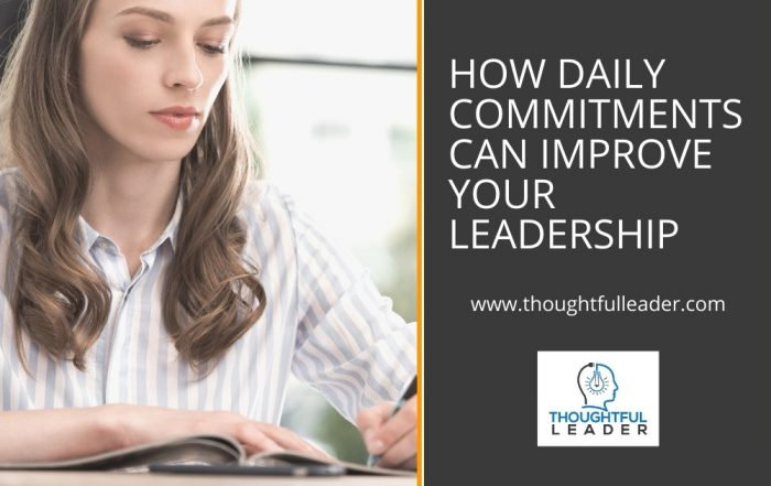 Daily Commitments to Improve Your Leadership - Main