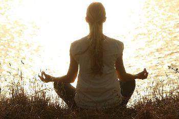 Mindfulness and meditation - woman meditating