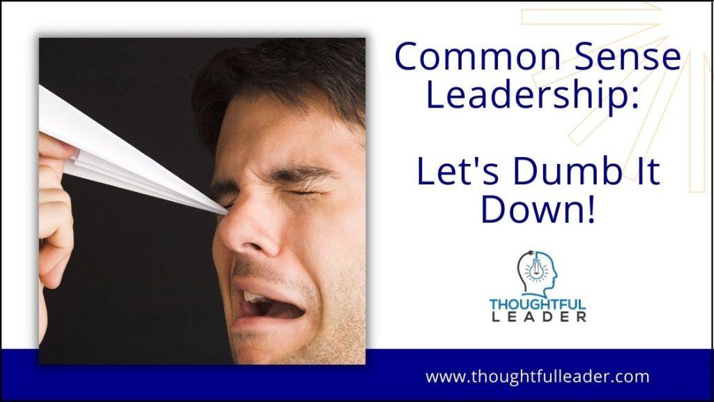 Common Sense Leadership - Main 2