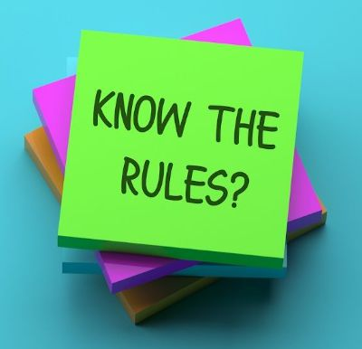 Know the rules post-it