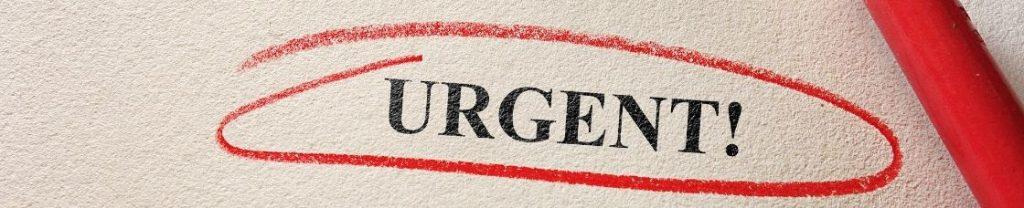 Urgent marker